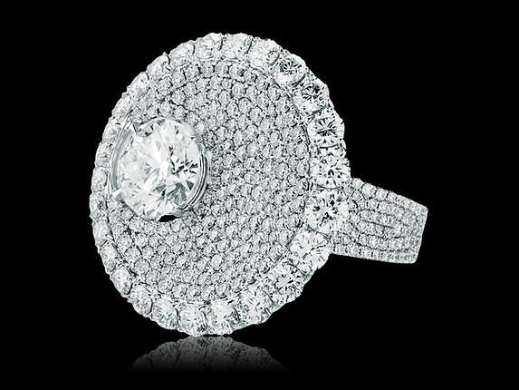 Divine White Diamond Ring