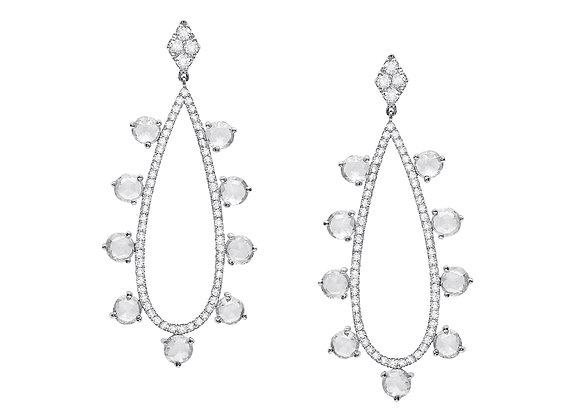 Pave' Teardrop Earrings