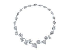 White Diamond Ivy Necklace