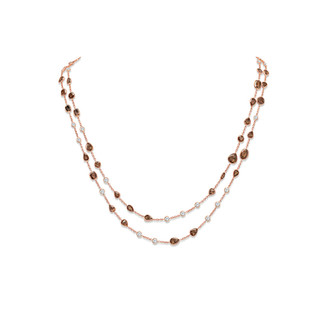 Brown Diamond Chain Necklace