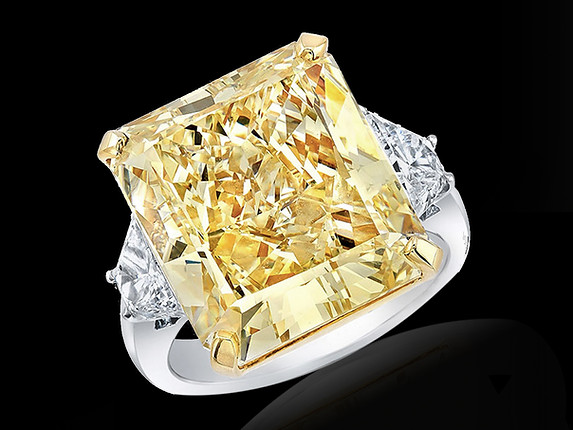 Grand Radiant Yellow Diamond Ring