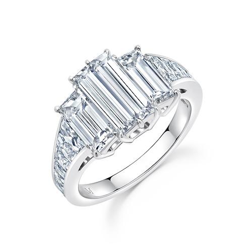 Diamond Baguettes Engagement Ring