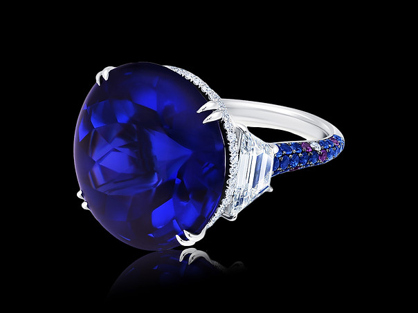 Bufftop Tanzanite Ring