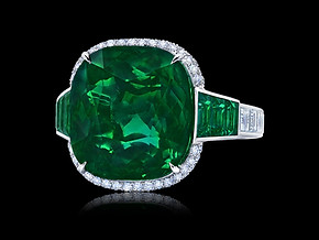 Grand Cushion Emerald Ring