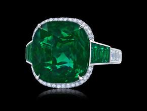 Grand Cushion Emerald Ring