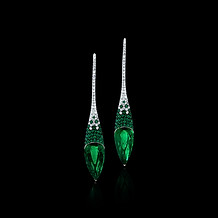 Pointe Emerald Earrings