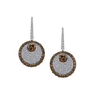 Divine Collection Cognac Diamond Earrings