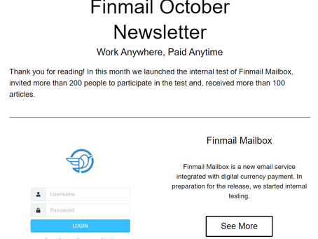 Finmail November Newsletter
