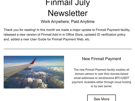 Finmail July Newsletter