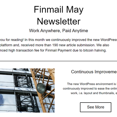 Finmail May Newsletter