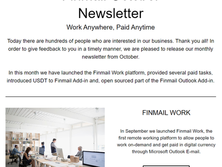 Finmail October Newsletter