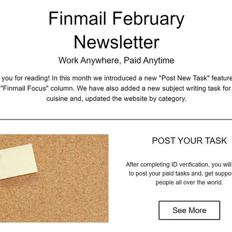 Finmail February Newsletter