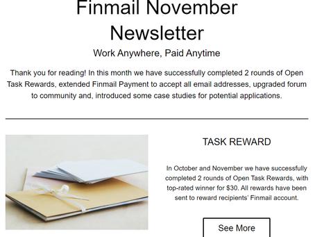 Finmail November Newsletter
