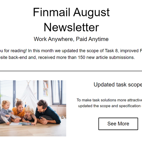 Finmail August Newsletter