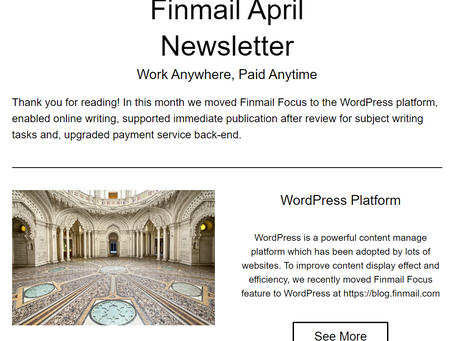 Finmail April Newsletter