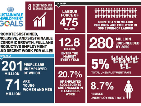 India's stance on SDG 8: Decent Work and Economic Growth