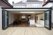 Alutech Systems BF73 bifold doors instal
