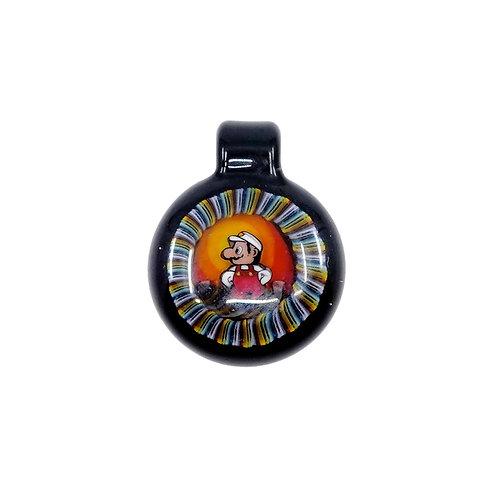 Microworkshop Mario glass pendant