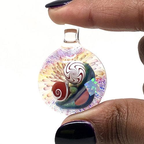 Mike Gong Acid Eater glass pendant