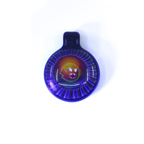 Microworkshop glass pendant UV reactive