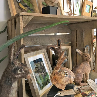 The Wallflower & Wallace - works by local artists