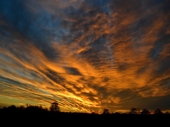 Dramatic Heydon sunset