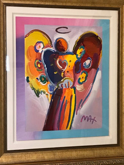 Peter Max Angel painting at Wings Hypnosis