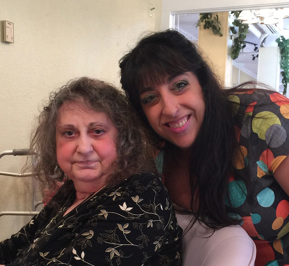 Carol with her daughter Traci on Mother's Day 2017