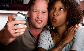 Caucasian man and African American woman