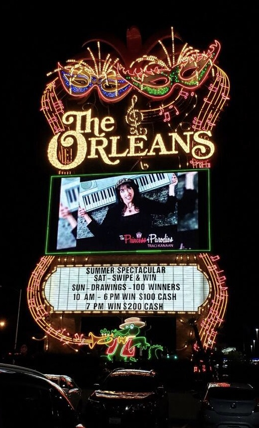 Traci performed at The Orleans Casino in Las Vegas