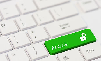 Green key with text Access and open padl