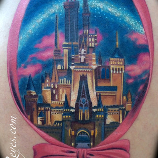 Cinderella's castle tattoo Dimas Reyes