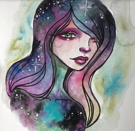 galaxy girl Liz Reyes