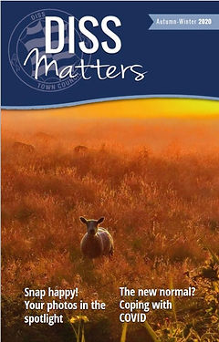 Diss Matters cover page featuring a sheep at sunrise