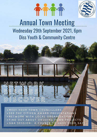 Annual Town Meeting Wednesday 29th September 2021, 6pm Diss Youth & Community Centre (1).j