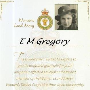 For mum, E M Gregory