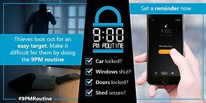 Be vigilant! Do the 9PM Routine