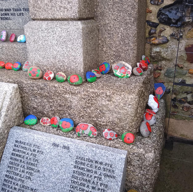 Remembrance pebbles, 2020