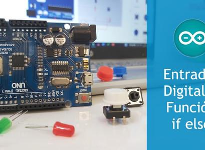 mBlock 5 a Código Arduino [Módulo 3] Entradas Digitales y Función if else || Tinekercad