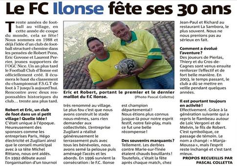 Le FC Ilonse fête ses 30 ans