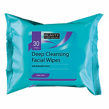 Beauty Formulas Clear Skin Deep Cleansing Face Wipes