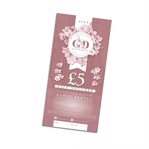 Guise & Dolls £5 Gift Voucher