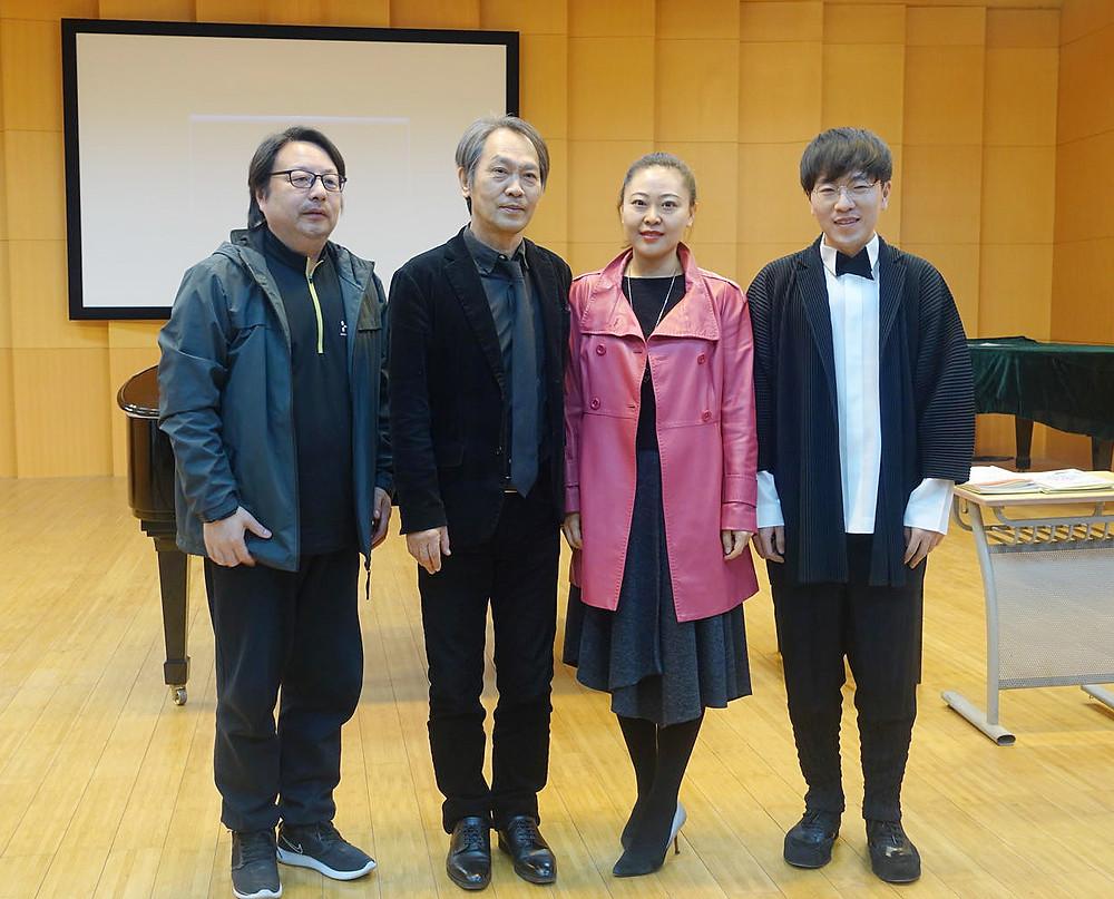 与中央民族大学音乐学院安鲁新副院长,刘洋洋副教授