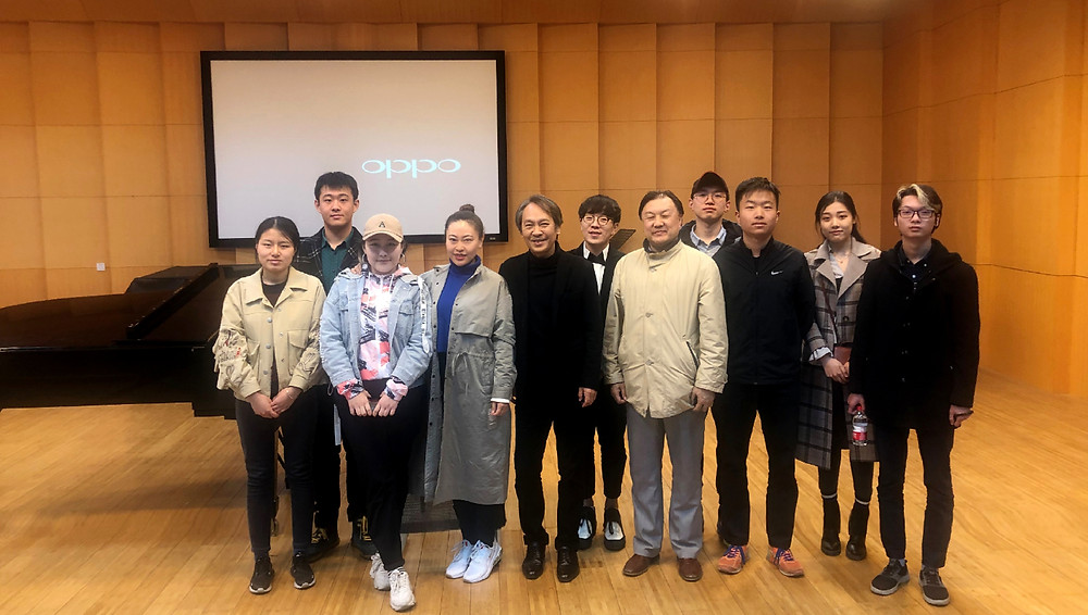 与中央民族大学音乐学院作曲系的同学们