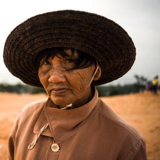 Portrait old granny in Vietnam