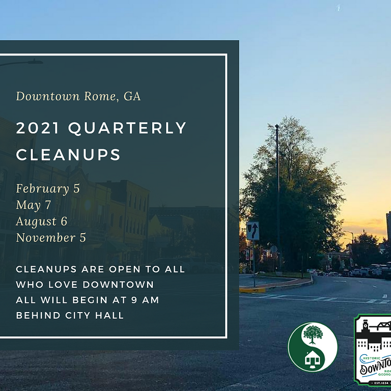 Downtown Rome Quarterly Cleanup