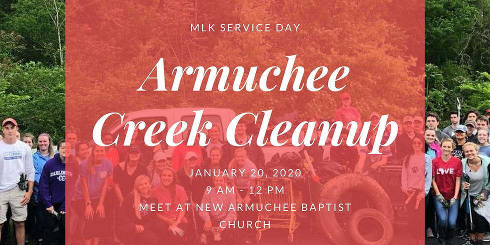 MLK Service Day Armuchee Creek Cleanup