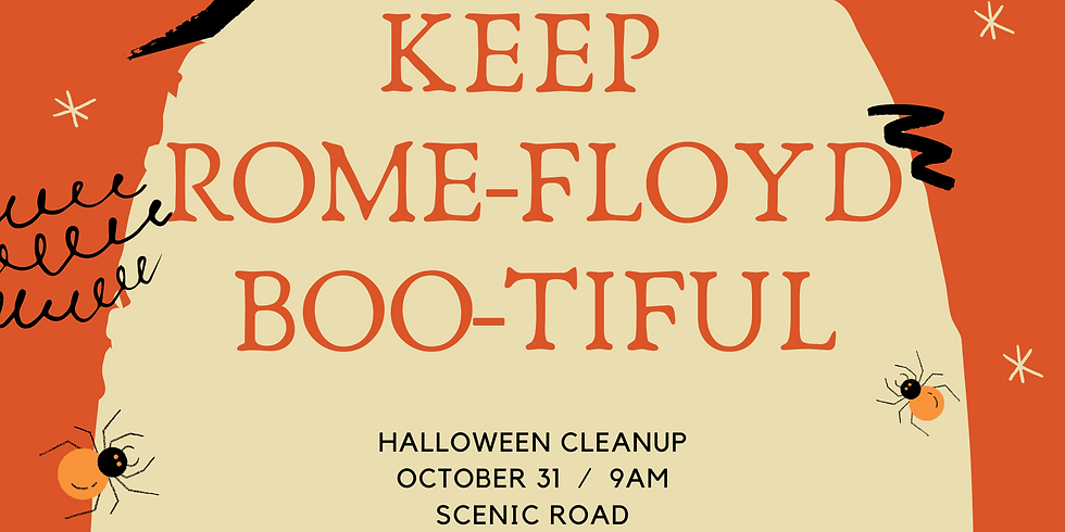 Keep Rome-Floyd Boo-tiful Halloween Cleanup
