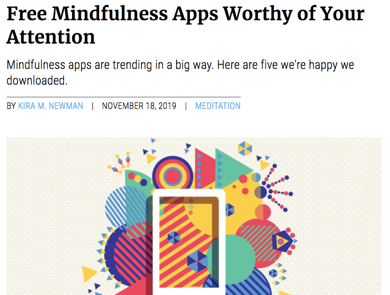 Free Mindfulness Apps