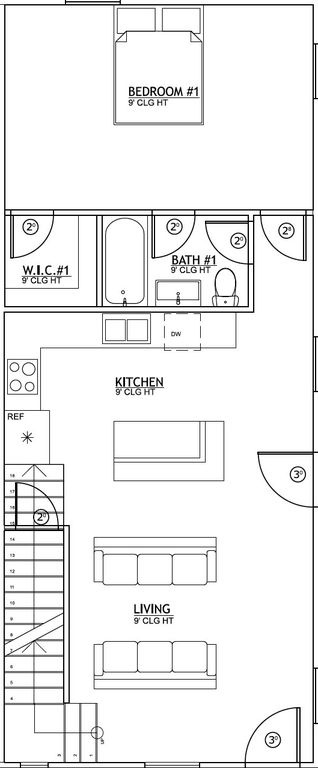 400 Poplar Floorplan 6